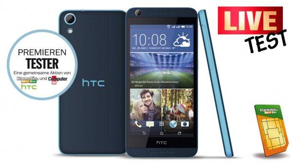 HTC Desire 626G Dual SIM - Allnet Flat (+Festnetz) | 500 MB bei Klarmobil (D-Netz)für 14,85 €/mtl.