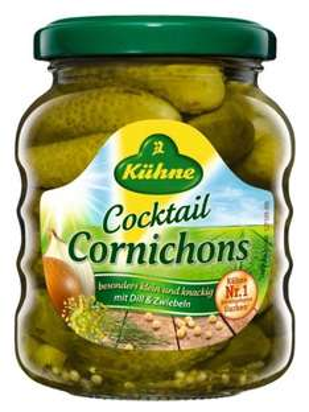 [Amazon-Plusprodukt] Kühne Cocktail Cornichons, 12er Pack (12 x 110 g)