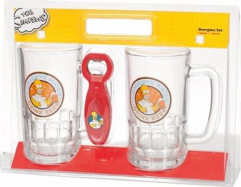[buecher.de] Die Simpsons - 2 Biergläser (0,5l) + sprechenden Flaschenöffner für 13,99€ incl.Versand!