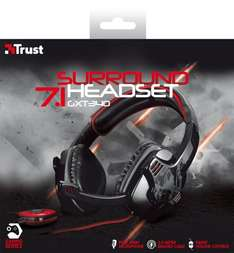 "Trust™ - 7.1 Surround Gaming Headset ""GXT 340"" (USB,Fernbedienung,3m Kabel) für €32,89 [@Notebooksbilliger.de]"
