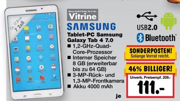 [Kaufland Erkner] Samsung Galaxy Tab 4 7.0, weiss, 8GB 111 € [Kaufland Erkner]