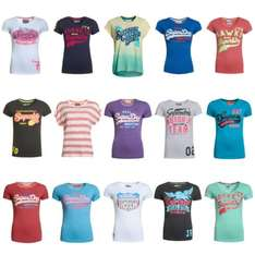 [Superdry @ ebay] Superdry Damen B-Ware / Factory Seconds T-Shirts über 80 Modelle 9,99! statt 30-35