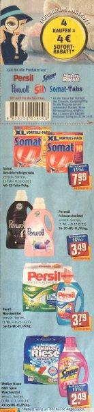 [REWE-Bundesweit] ~60 % Rabatt auf bereits reduzierte Waschmittel bei REWE (Spee, Weißer Riese etc.)
