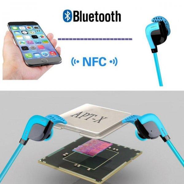 Dacom G02 Wireles Bluetooth 4.1 Sport Kopfhörer mit NFC Funktion Android & iOS Farbe blau / orange / silber @allbuy