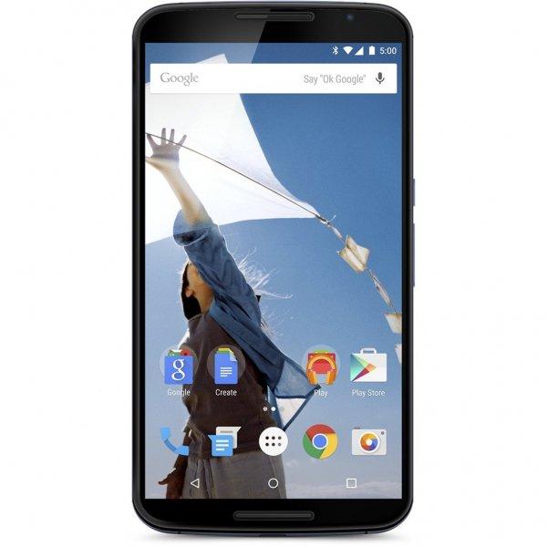 [Talkpoint] Motorola Nexus 6 LTE mit 32GB (5,96'' QHD AMOLED, 2,7 GHz Snapdragon 805, 3 GB RAM, 3220 mAh mit Qi, Android 5.1) für 392,50€