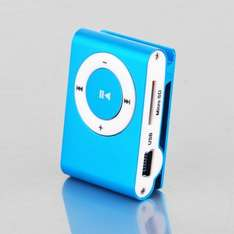 NEU-Mini Clip Metal Mp3 Player mit Micro / TF Slot für Mini SD-Karte -- allbuy