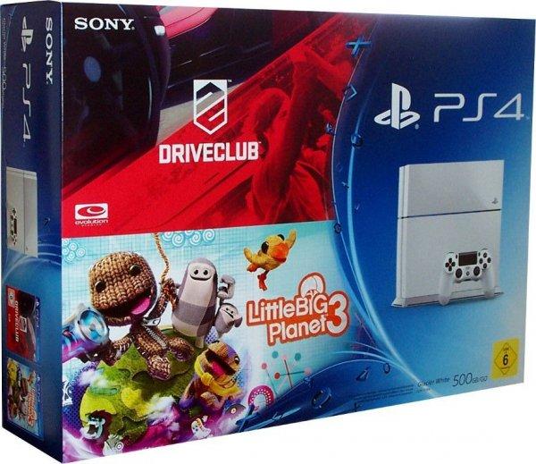 Playstation 4 weiß+LBP 3+DriveClub@ebay