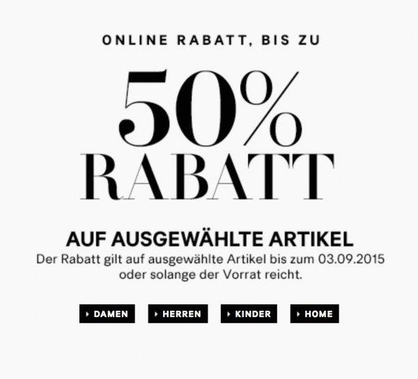 [H&M ONLINE] ausgewählte Herbstmode für Sie und Ihn bis zu 50% günstiger (nur 3 Tage!!)