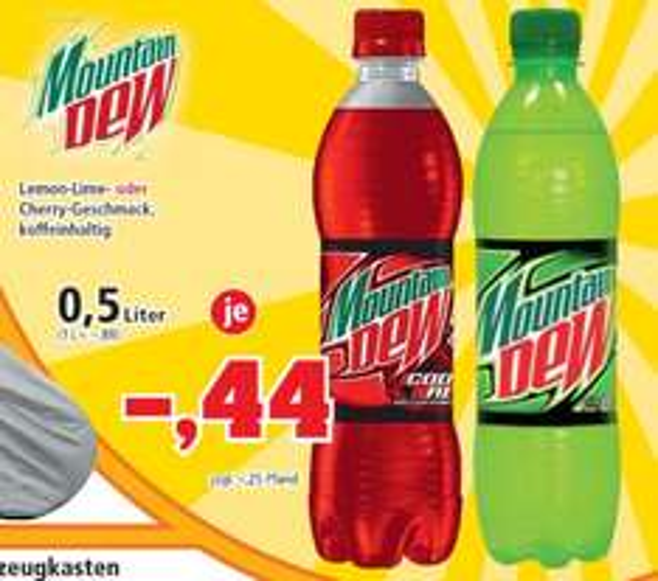 [THOMAS PHILIPPS] KW37: Mountain Dew Lemon-Lime // Code Red 0,5l für 0,44€ (07.-12.09.)