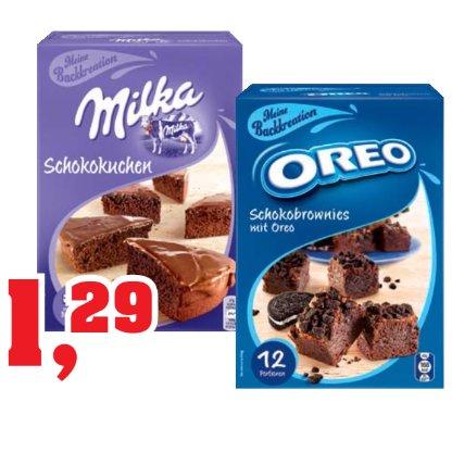 [THOMAS PHILIPPS] KW37: Milka Schokokuchen // Oreo Schokobrownies Backmischungen für 1,29€