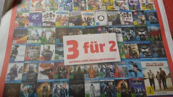 [Lokal Mönchengladbach?] Media Markt Aktion: 3 für 2 auf ALLE Spiele und DvDs/BluRays.