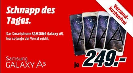 [Mediamarkt] Schnapp des Tages....Samsung Galaxy A5-Alle farben für je 249,-€ Versandkostenfrei-Ab 20.00 Uhr