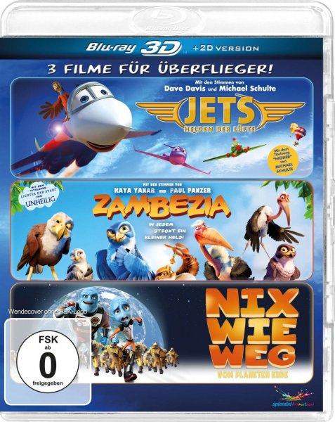 (Amazon.de-Prime) Überflieger-Box - Zambezia, Jets, Nix wie weg 3D+2D Blu-ray für 15,99€