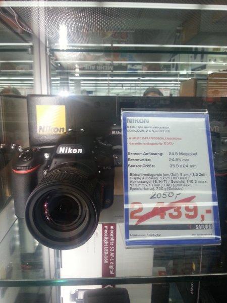 Vitrinenmodel Nikon D 750 + 24 - 85 mm für nur 2050,-€