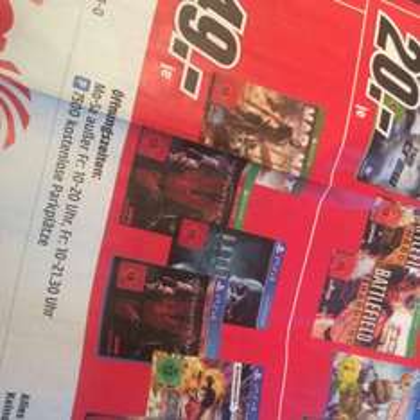 Mad Max, Metal Gear Solid 5, Until Dawn (Lokal) MM Ruhrpark 49,-