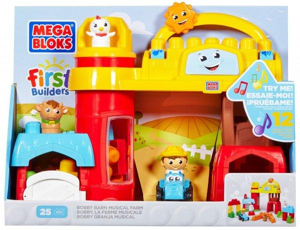 (Spielzeug/Prime) Mattel Mega Bloks First Builders CXN76 Große Bauernhof Spielewelt