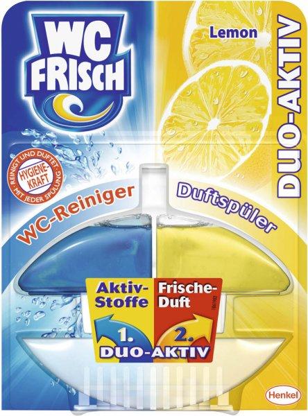 [ROSSMANN evtl. bundesweit] Green Label: Abverkauf WC Frisch Duo-Aktiv (Lemon, 60 ml) 2 Packungen für 0,90 € bzw. 0,81 € (Green Label + Coupon + 10% Rossmann Coupon)
