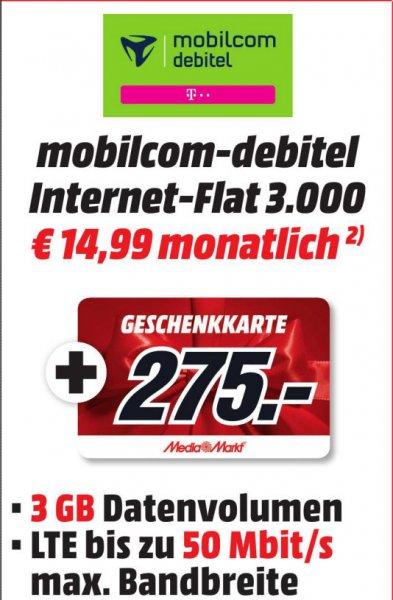 [Bo-MM]3GB LTE in Telekom Netz + 275€ MM-Geschenkkarte