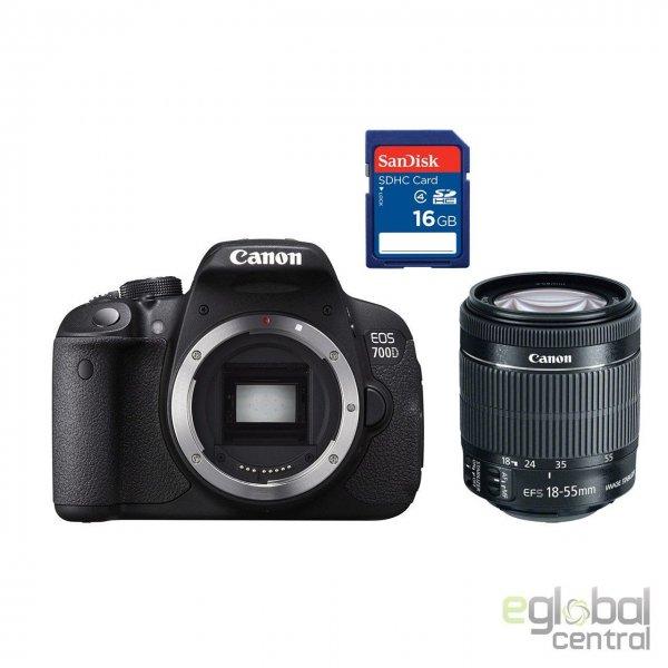 [ebay] Canon EOS 700D Kit mit 18-55mm IS STM Objektiv + 16GB SD Card