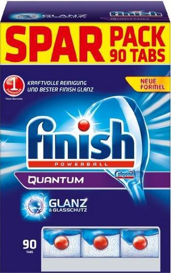 [AMAZON PRIME] Finish Calgonit Quantum mit Glanz- & Glasschutz, Spülmaschinentabs, 90 Tabs