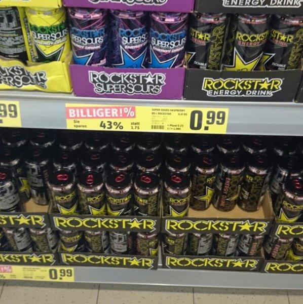 Rockstar Energy Drink, versch. Sorten bei Rewe Geesthacht (Lokal?)