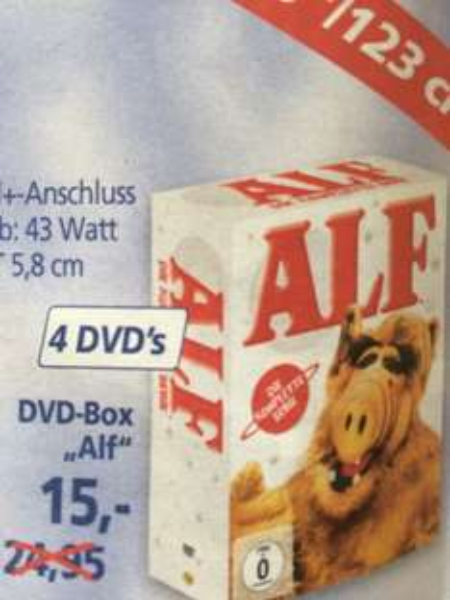 [Real lokal] Alf, komplette Serie, DVD, ab 03.09.