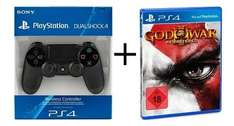 [Saturn Late Night] SONY PS4 Wireless DualShock 4 Controller Jet Black + God of War 3 für 69,99,-€ Versandkostenfrei.