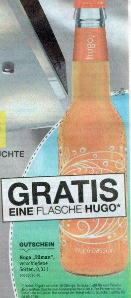 """[XXXL MANN MOBILIA] Coupon für 1 Gratis Flasche Hugo """"Tilman"""" 0,33l in der """"Südhessen Woche"""""""