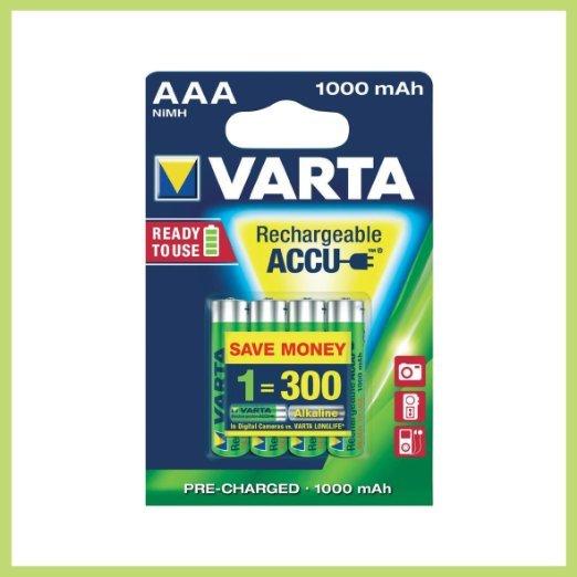 [Amazon.de] Varta Professional Akku AAA Batterie (1,2V, 1000mAh, 10x 4-er Blister)