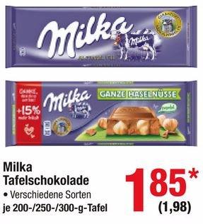[Metro] Milka verschiedene Sorten 200g / 250g / 300g Tafeln 1,98 € brutto