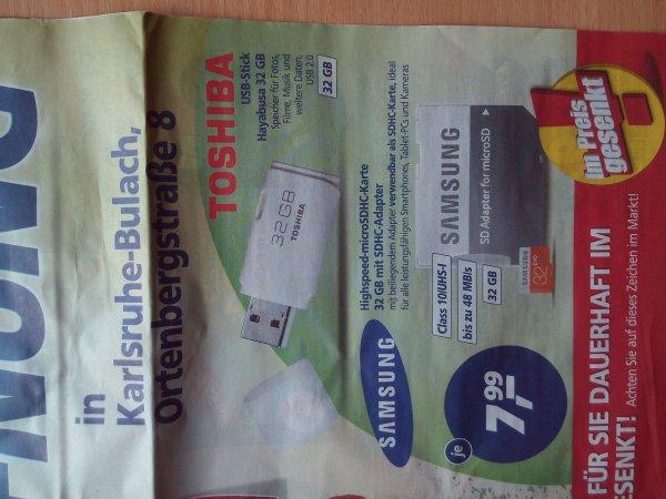 Samsung 32GB SDHC/USB Stick 32GB (Real Markt Karlsruhe Ortenbergstrasse)