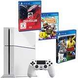 Sony PlayStation 4 500 GB weiss + Pro Evolution Soccer 2016 + Little Big Planet 3 + Driveclub