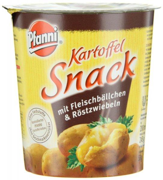 [Amazon-Prime] Pfanni Kartoffelsnack Fleischbällchen & Röstzwiebeln, 4er-Pack (4 x 53 g)