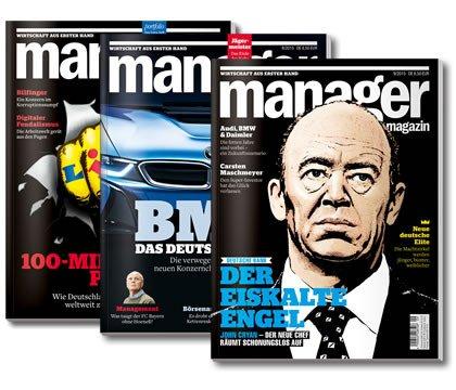 3 Ausgaben Manager Magazin für effektiv 6,90 Euro
