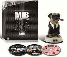 @Amazon.fr: MIB Trilogy (Ultimate Hero Pack) - 3-Disc Box Set & Agent Frank Figur für 54,29€ inkl. Lieferung