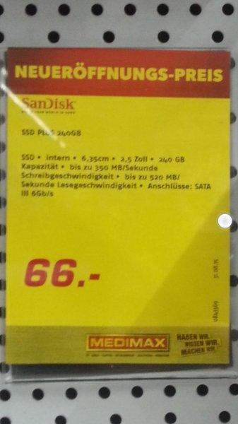 [MediMax lokal Bautzen] SSD SanDisk Plus 240GB 66€