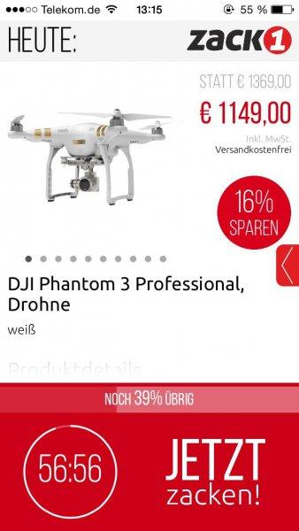 Dji Phantom 3 Professional 1149€ inkl. Versand aus DE