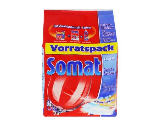 2 x Somat Classic Pulver-Reiniger mit Power Entkruster und Reinigungsverstärker/ 2 x 1,5kg / Spülmaschinenreiniger/ je 60 Anwendungen