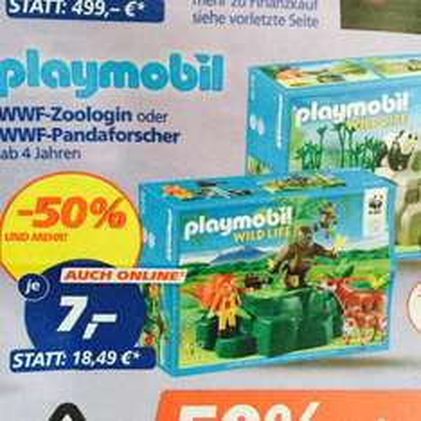 [Real] playmobil WWF Zoologin / Pandaforscher