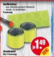 [NP Discount ab 7.9] 2x reflektierende Armbänder oder 10x reflektierende Sticker je 1,49€