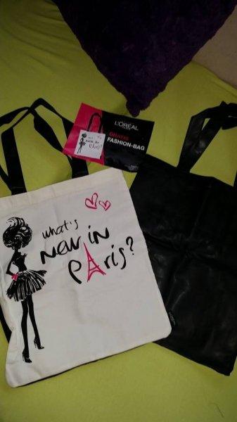 Real - Freebie Loreal Fashion-Bag - und diesmal wirklich eine coole Tasche - eine Seite künstliches Leder (oder so ;))