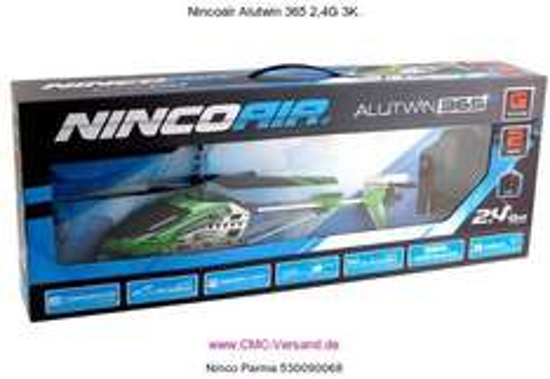 [Amazon-Prime] Ninco RC Heli Alutwin 365 Gyro RTF Maße: 470 x 200 x 80