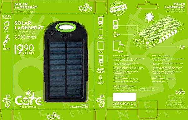 Solarladestation für Handy für die ersten 200 Besucher im neuen Care Shop Leipzig kostenfrei