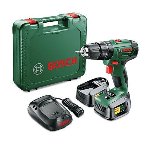 Bosch PSB 1800 Li-2 Hammer Drill inkl. 2 Akkus, Ladegerät & Koffer für 106,82 € @Amazon.co.uk