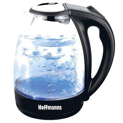 [Druckerzubehoer.de] Hoffmanns Glas/Edelstahl LED Wasserkocher