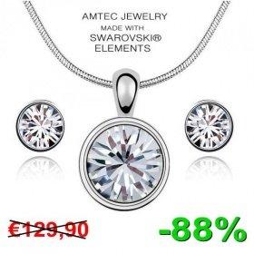 White Diamond Glamour SET mit Kristallen von SWAROVSKI® - Rublys Deal