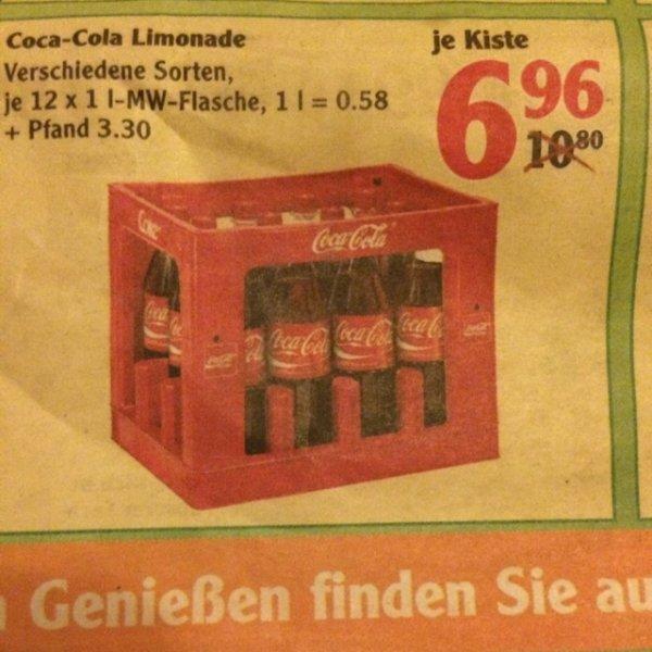 [Globus evtl. Bundesweit] Coca Cola Kasten nur 6,96€