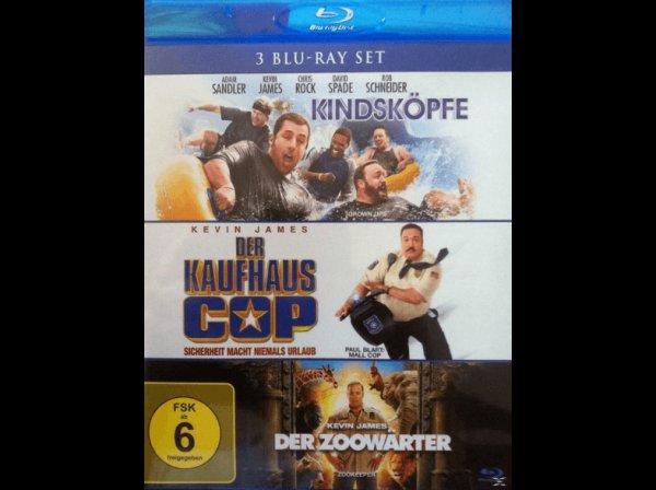 Der Kaufhaus Cop + Kindsköpfe + Der Zoowärter (Bluray) für 8,99 € @ Saturn Super Sunday