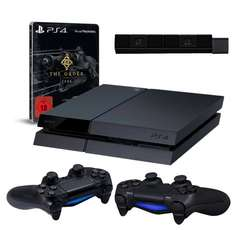 "PlayStation 4 - Konsole inkl. The Order: 1886 Limited Steelbook Edition ""Ausdauer des Ritters"" + 2 DualShock 4 Wireless Controller + Kamera @ Amazon WHD"