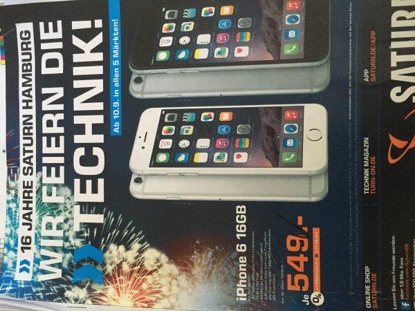 Saturn Hamburg & Norderstedt Geburtstagswerbung div. Angebote z.b. iPhone 6 16Gb und 3f2 Aktion Games, CD DVD und BlueRays und weitere Produkte
